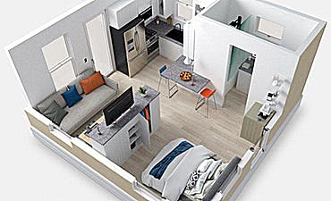 image for The Affordable Housing of Tomorrow. - Boxabl Includes Luxury Finishes and High End Appliances with Innovative New Design.